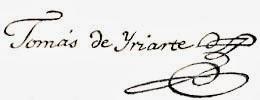 Tomás de Iriarte. Firma