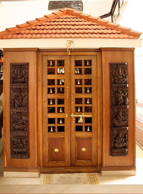 Kerala style carpenter works and designs september 2013 - Pooja room door designs in kerala ...