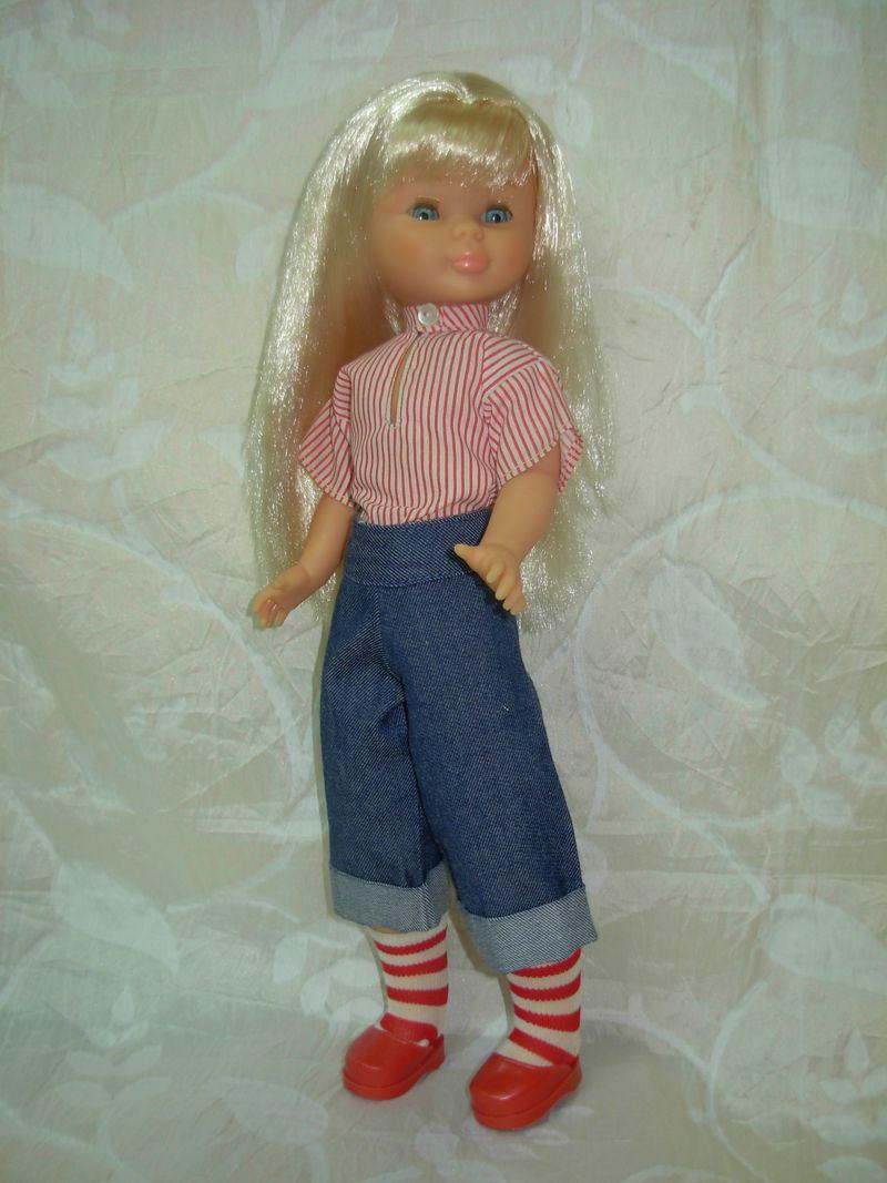 Nancy con el conjunto Picadilly de los 70 aún incompleto