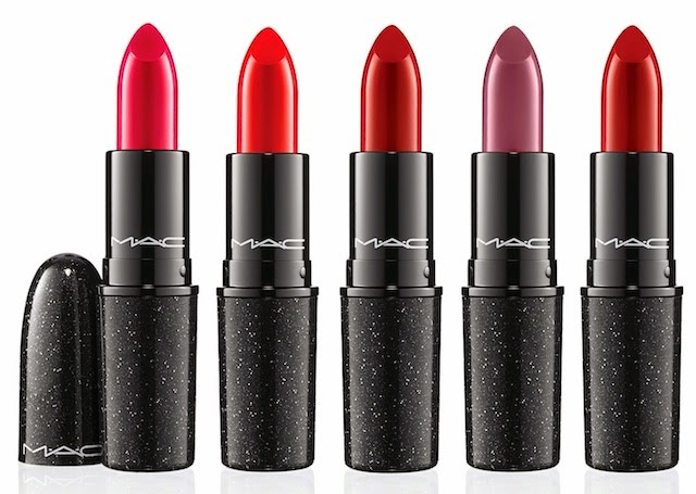 MAC Heirloom Mix Collection for Holiday 2014, Lipstick, Tribalist, No Faux Pas, Sparks of Romance, Rebel, Salon Rouge