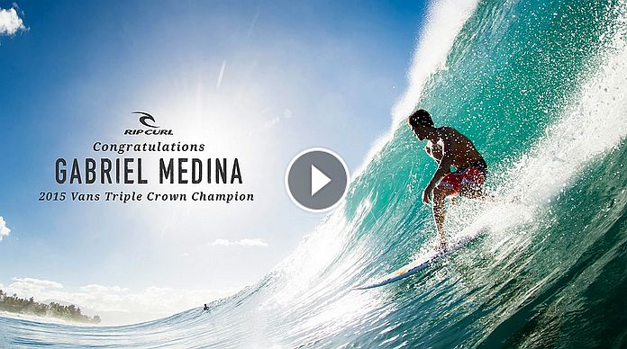 Gabriel Medina Wins Hawaii Triple Crown 2015
