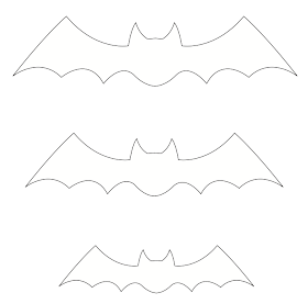 moldes de morcego para decorar a sala no halloween