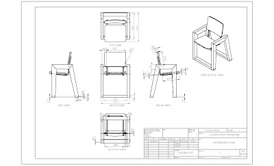 Chair Construction Drawings Cad Construction Drawings