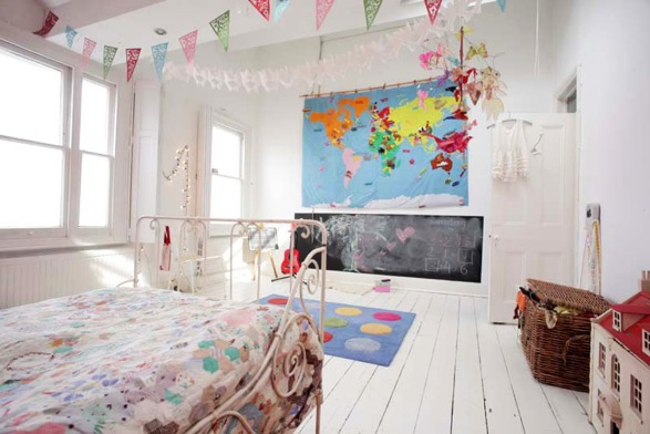 Decorating Ideas # Wicker & Stitch Quirky Decorating Little Girls Bedroom