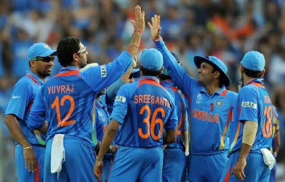 Yuvraj celebrating