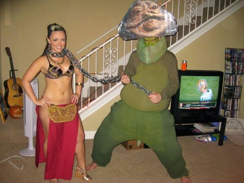 Funny MeMe Star Wars Jabba Laia Halloween Costume