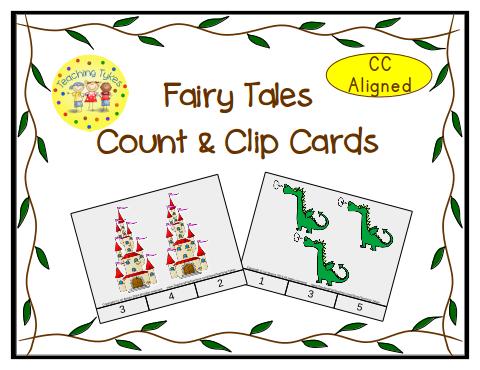 http://www.teacherspayteachers.com/Product/Fairy-Tale-Count-Clip-Cards-Common-Core-Aligned-902917
