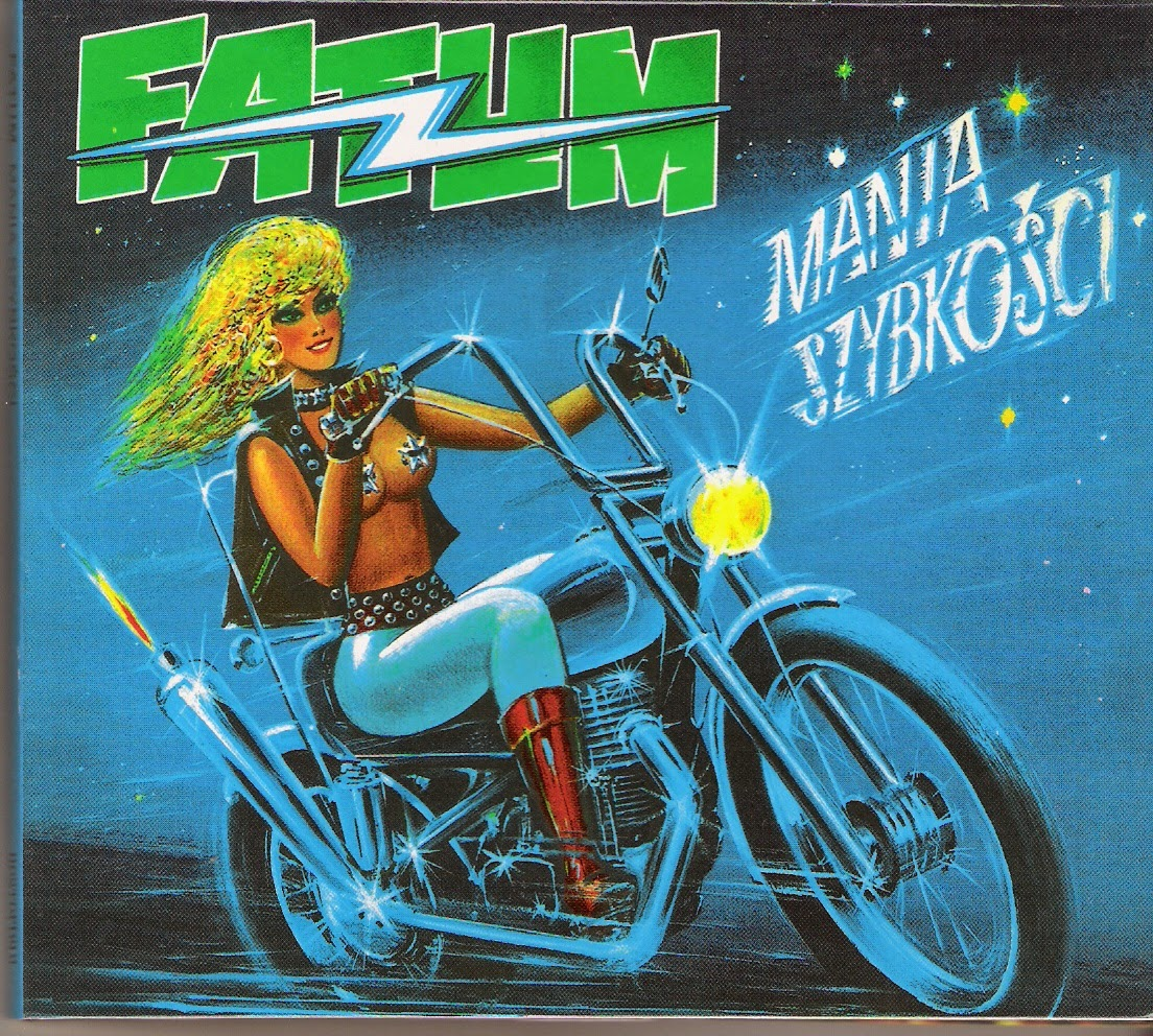 album cover woman riding motorbike