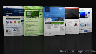 Tutorial desain mockup web PSD 3d di blender