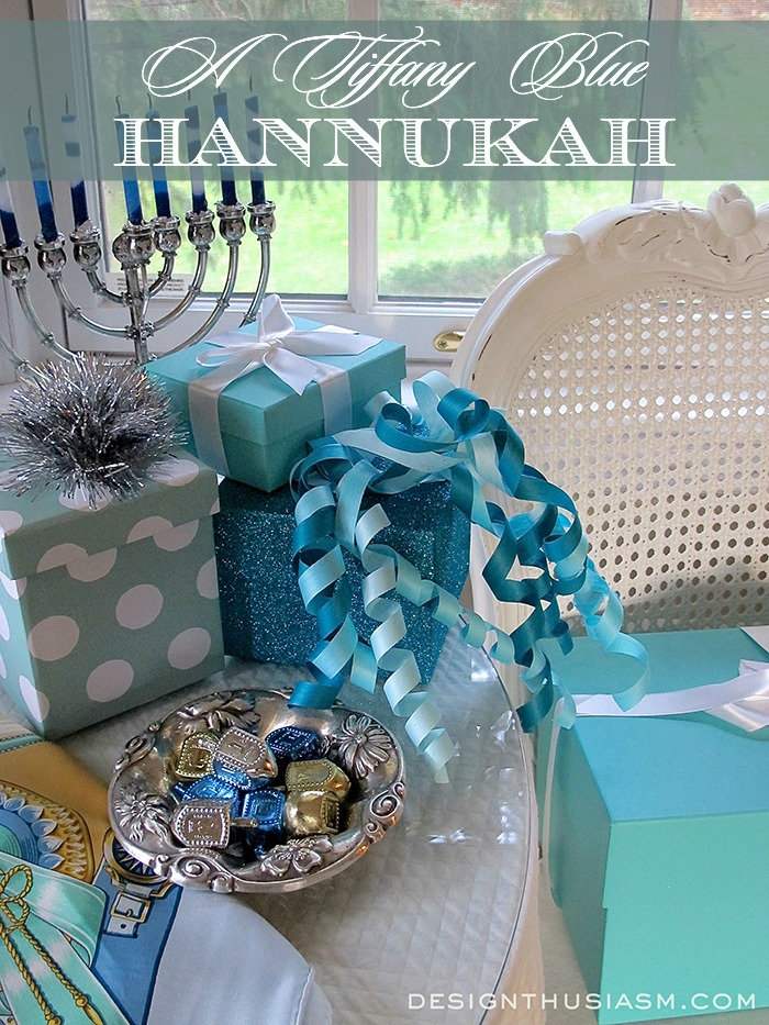 Designthusiasm Tiffany Blue Hanukkah- Treasure Hunt Thursday- From My Front Porch To Yours