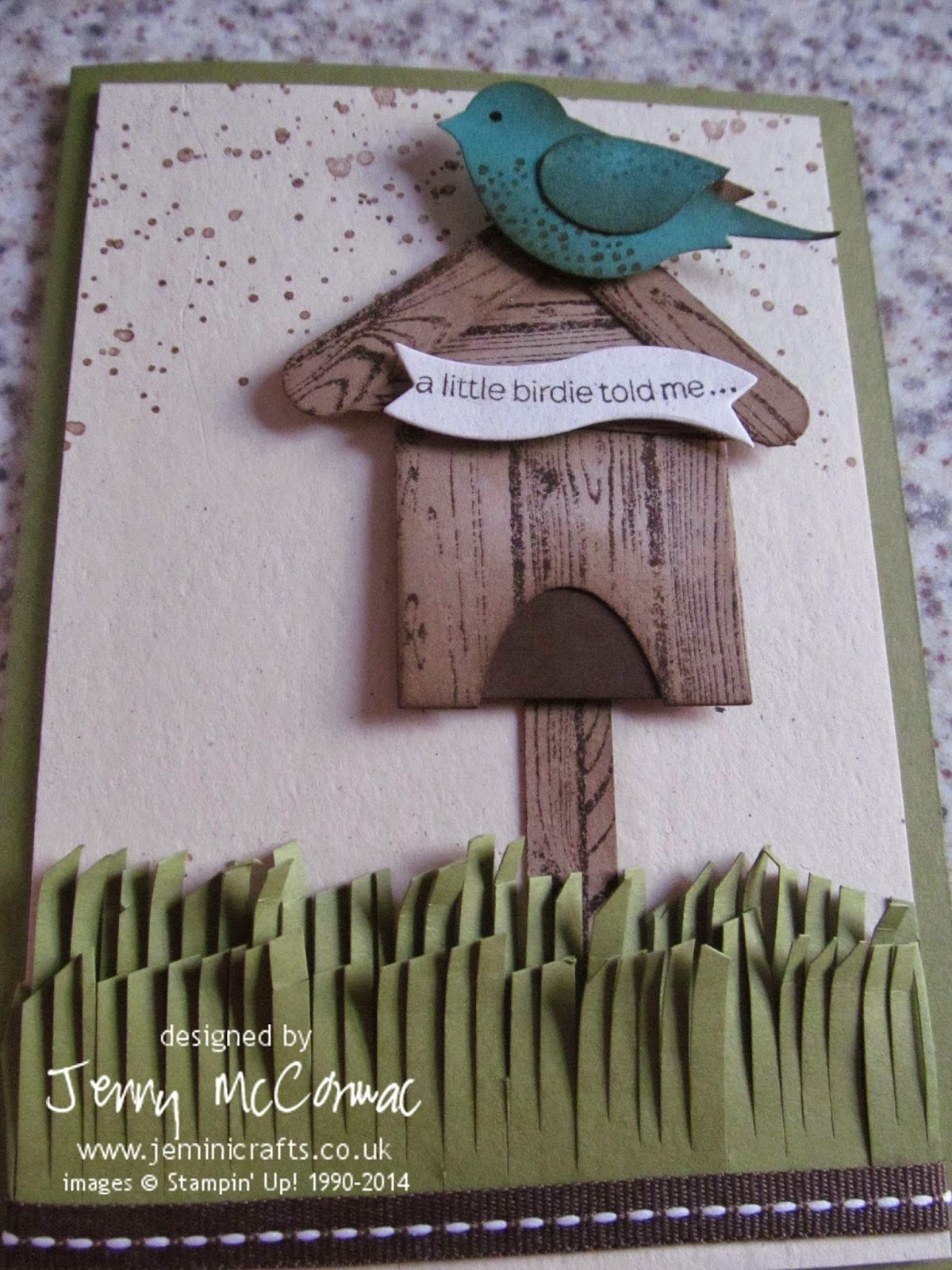 Full Bird house card www.jeminicrafts.co.uk