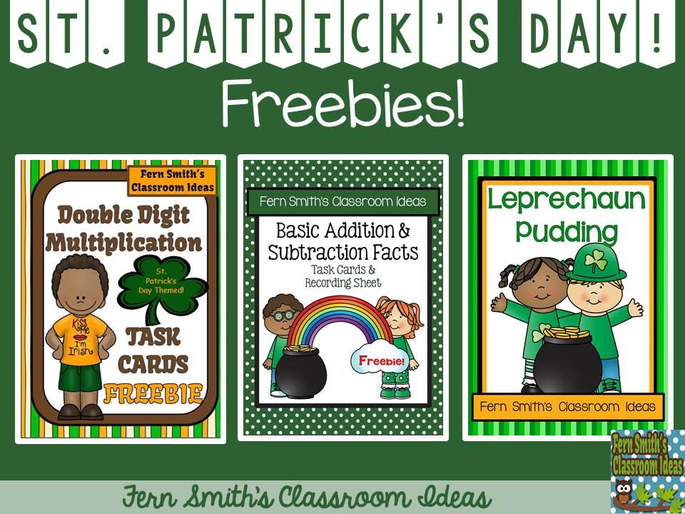 http://www.fernsmithsclassroomideas.com/2015/03/tuesday-teacher-tips-st-patricks-day.html