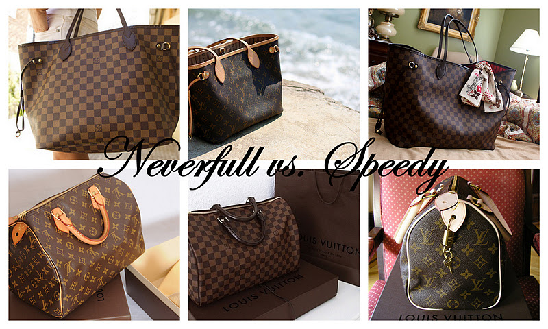 a5935cea69080 Louis Vuitton Neverfull vs. Speedy - All I want is everything