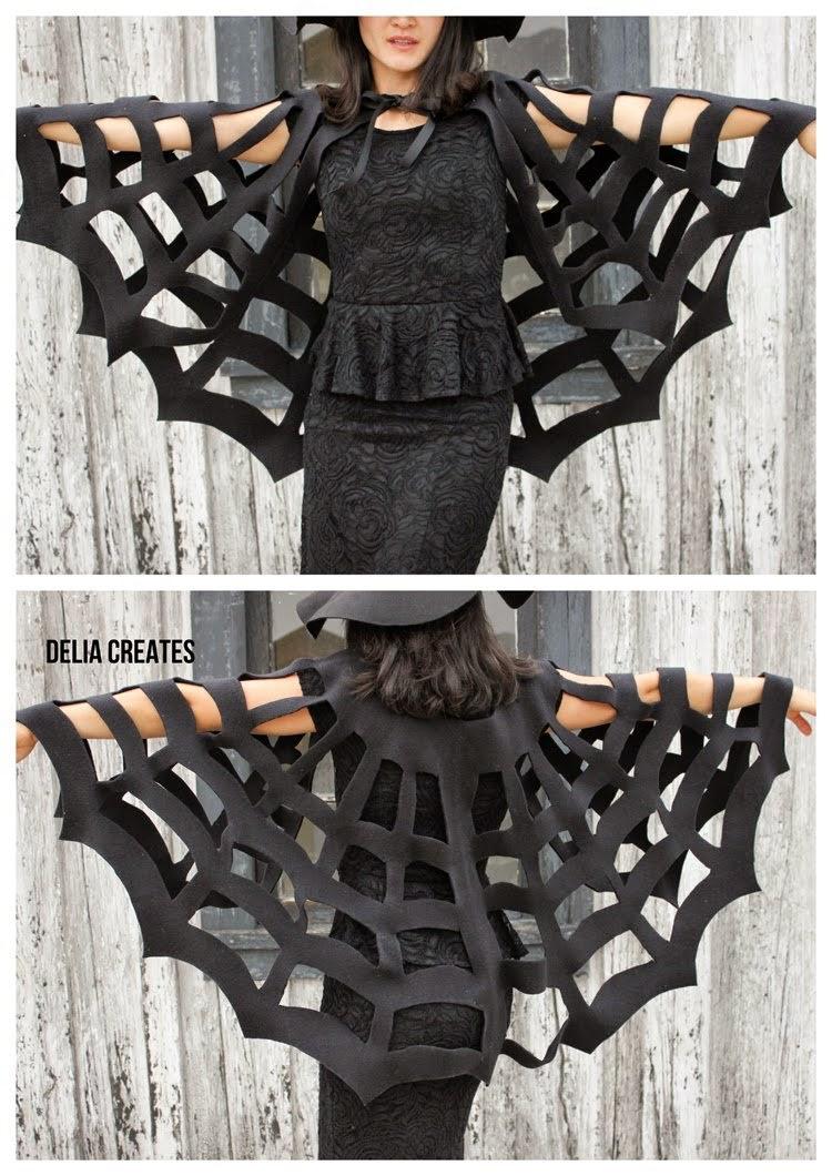 Diy fabriquer une cape toile d araign e pour halloween - Fabriquer araignee pour halloween ...