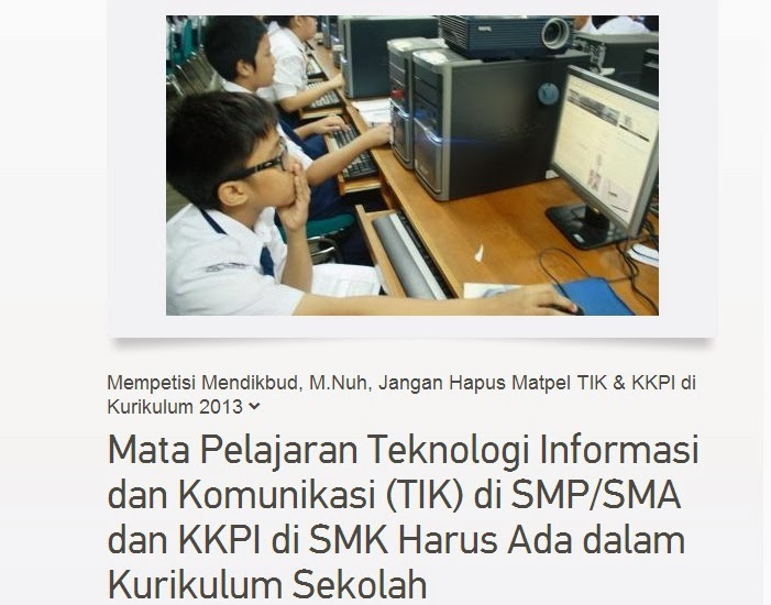 petisi jangan hapus mata pelajaran (matpel) TIK dan KKPI di kurikulum 2013