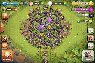 Formasi Base Clash of Clans Town Hall 7 Terbaik