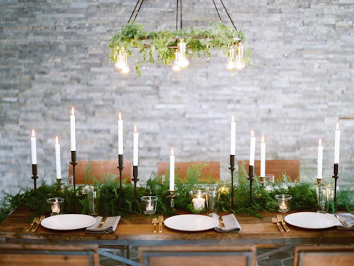 détail, joli détail, mariage d'hiver, mariage économique, mariage sans fleurs, idées centre de table