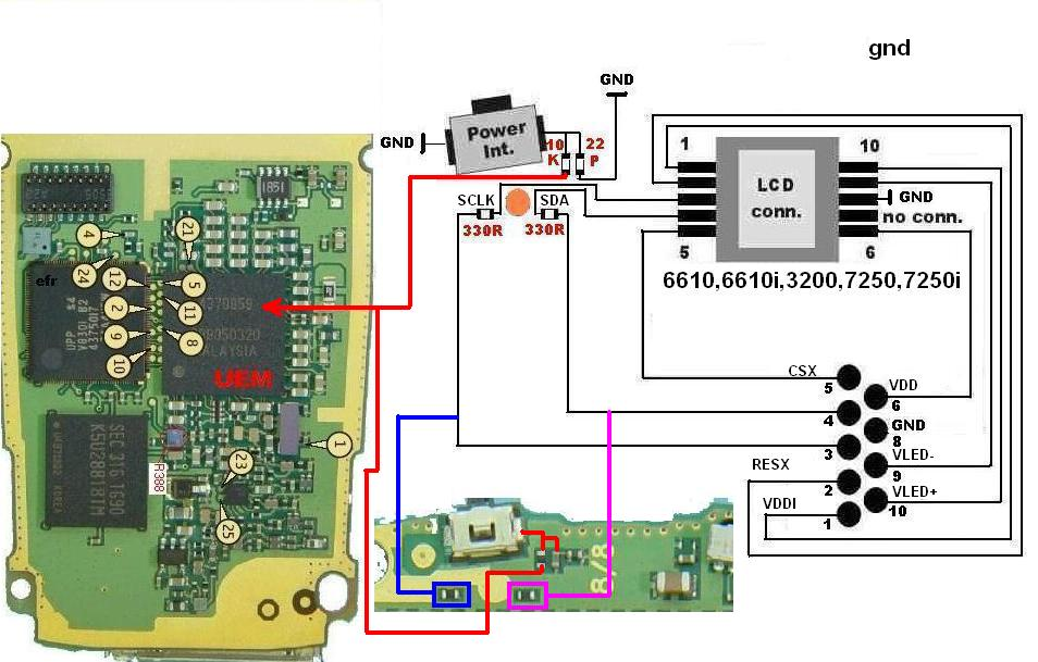Nokia 7250 Power Switch Broken | Jumper Guide | Picture Help