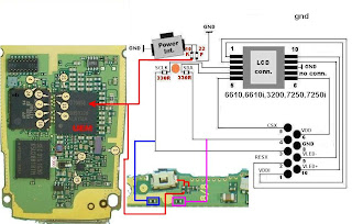 Nokia    7250 Power Switch Broken   Jumper Guide   Picture
