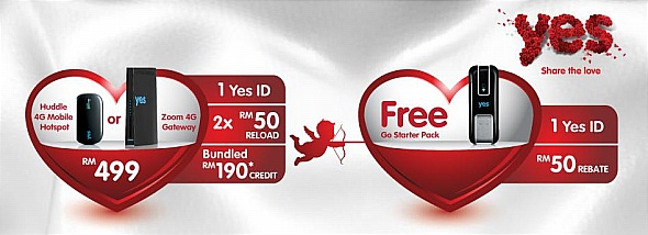 Yes 4G Promotions on Valentine's Day