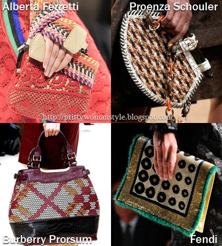 Плетени и тъкани чанти Пролет/Лято 2012