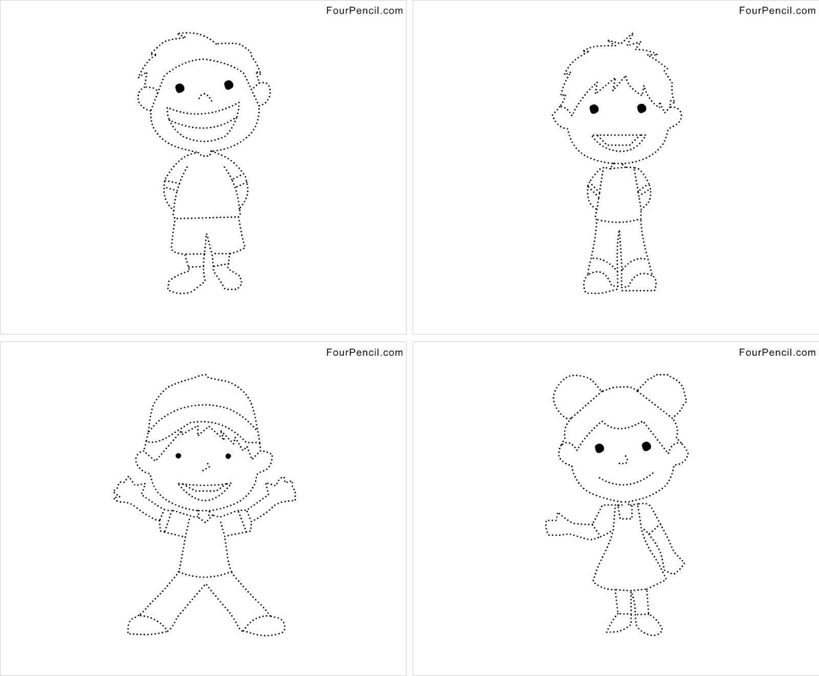 Dotted drawing patterns for kids - crazywidow.info