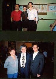 Arriba con Jorge Firpo y Aurora Lubiz , abajo con Osvaldo Piro.