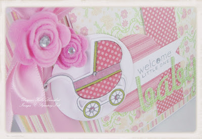 really love paper piecing this sweet little carriage i