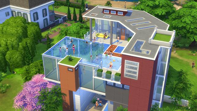 Estilo the sims piscinas no the sims 4 for Piscina sims 4
