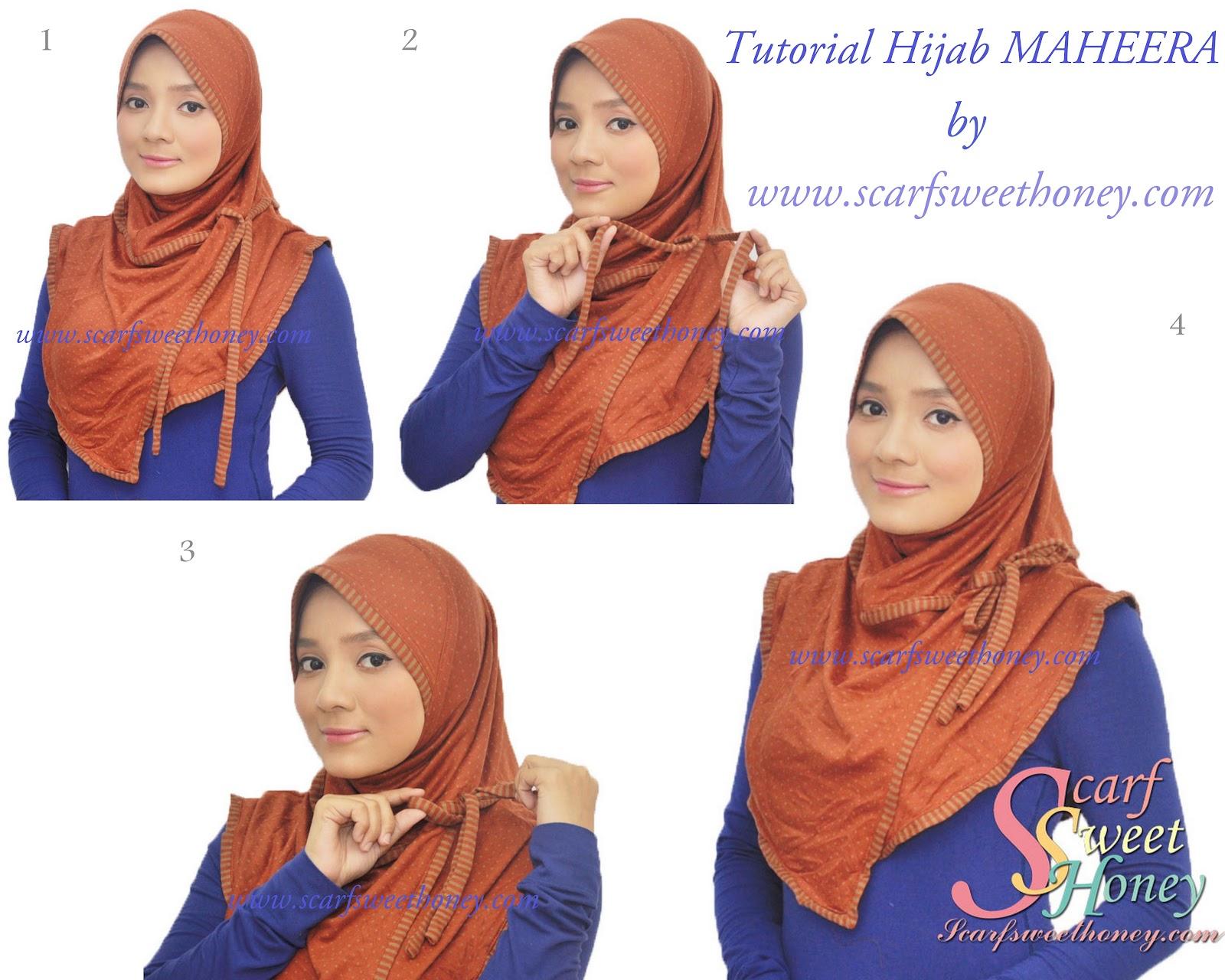 Tutorial Hijab Segi Empat Cara Memakai Jilbab Modis Part 2 | hnczcyw ...