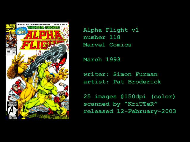 Alpha Flight (1983) 118 Page 1