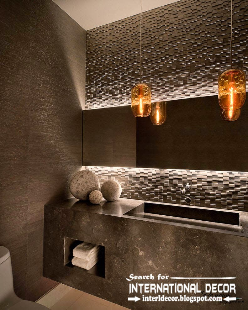 contemporary bathroom lights and lighting ideas pendant lamps - Designer Bathroom Lights