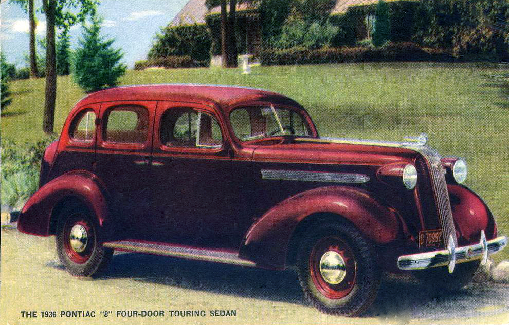 transpress nz 1936 pontiac 4 door touring sedan