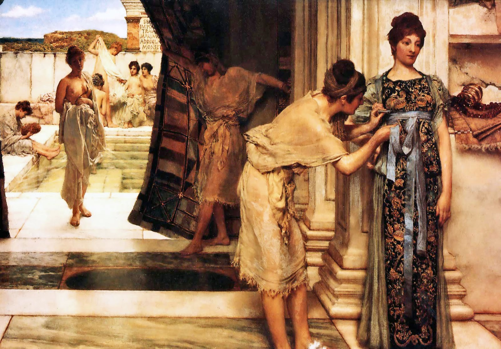Lawrence Alma-Tadema - Page 2 Sir+Lawrence+Alma-Tadema+-+The+Frigidarium