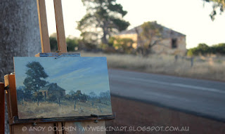 Plein air landscape oil painting by Andy Dolphin