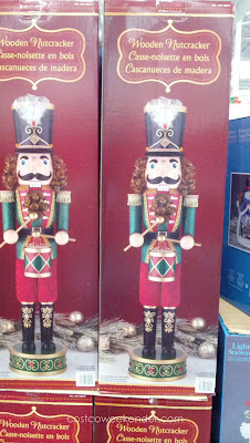 Decorate your home during Christmas with a 32in Wooden Nutcracker