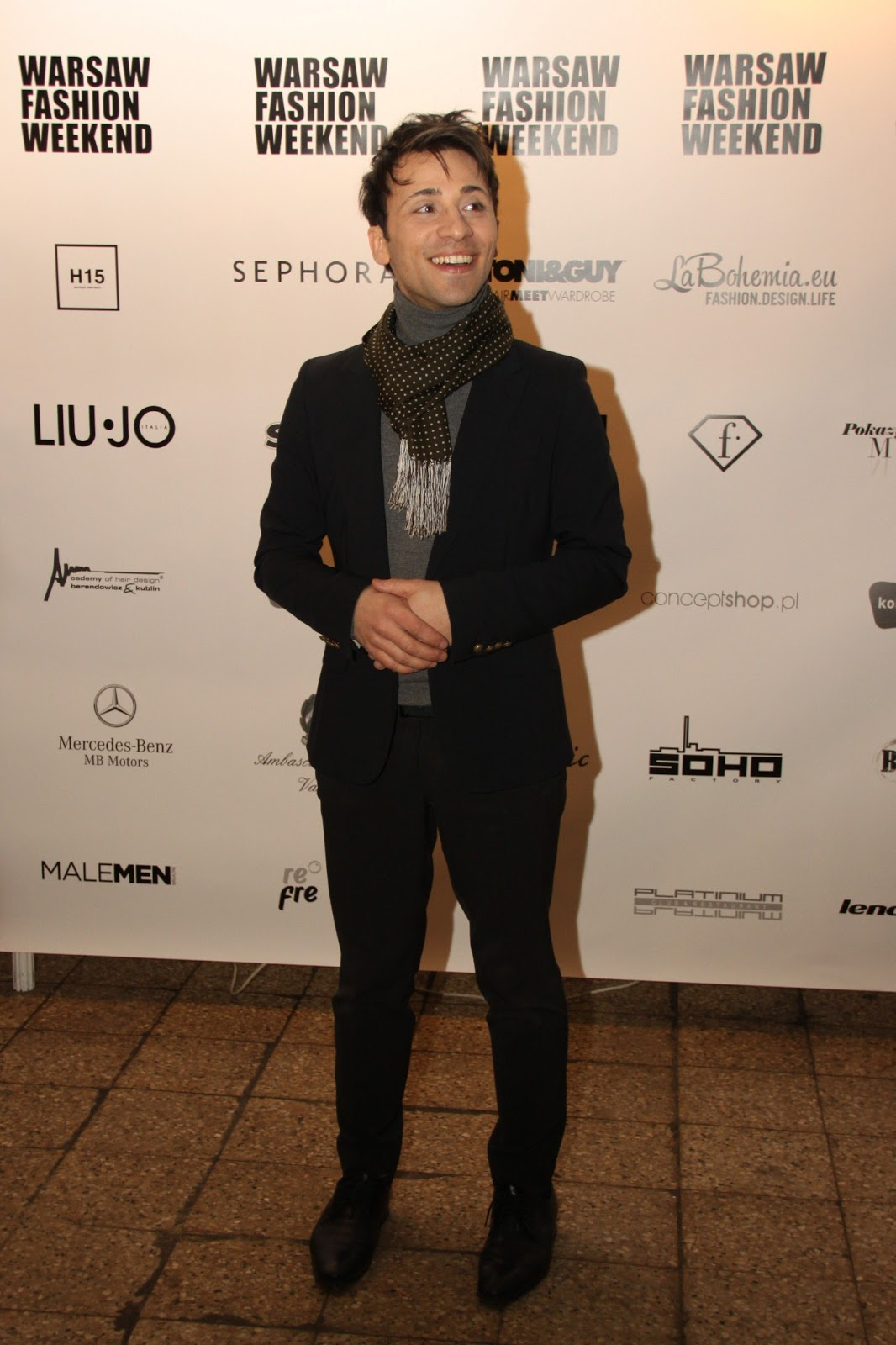 Lo stilista Santo Spada al Varsavia Fashion Week 2013