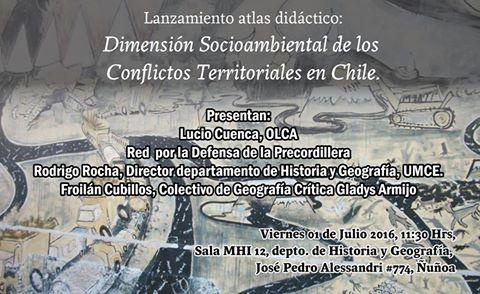 ÑUÑOA :LANZAMIENTO ATLAS DIDACTICO: DIMENSION SOCIOAMBIENTAL DE LOS CONFLICTOS TERRITORIALES