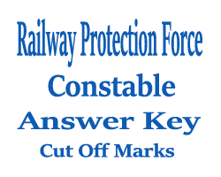 RPSF / RPF Constable Answer Key 2016
