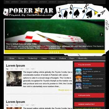 Poker Stars blogger template. template blogspot free