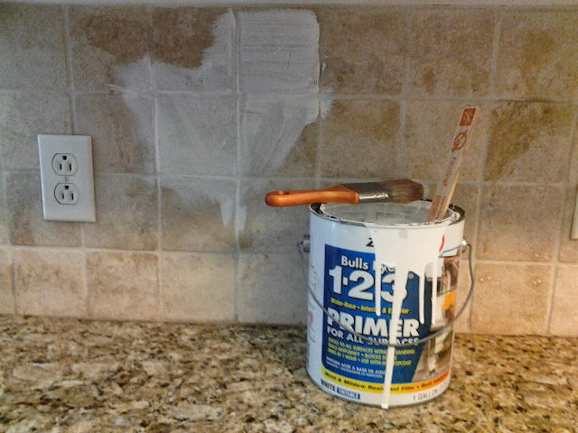 Older and wisor painting a tile backsplash and more easy for Can you paint tile backsplash in kitchen