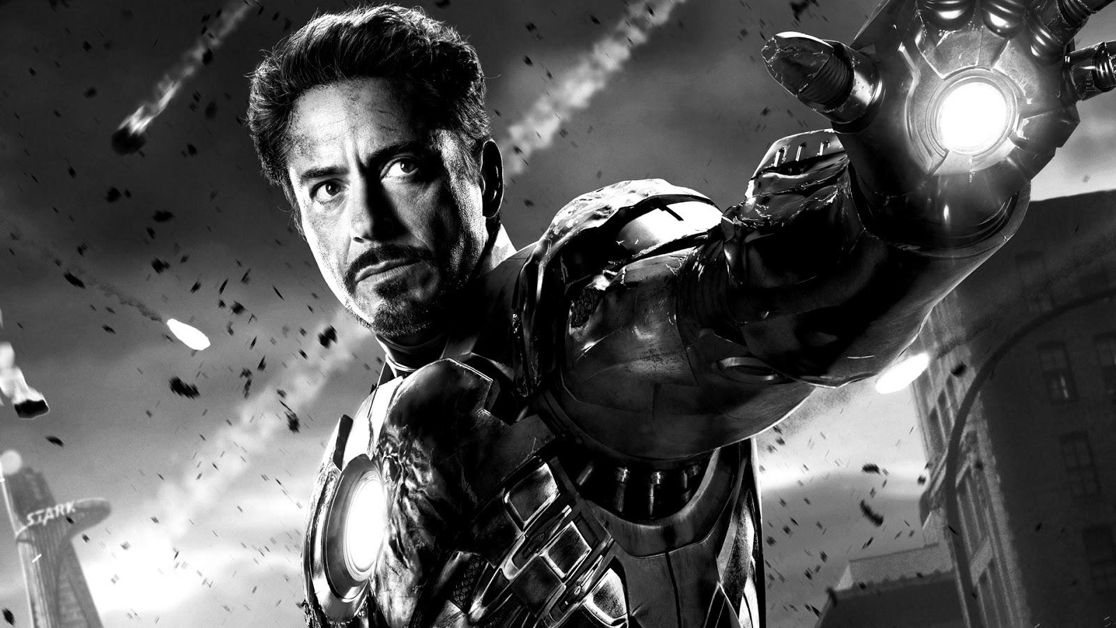 Iron Man 3 black and white Photo tony