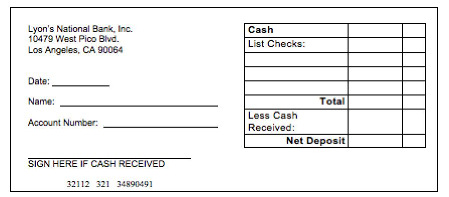 U S Bank Blank Deposit Slips Printable Pictures to Pin on – Deposit Slip Template