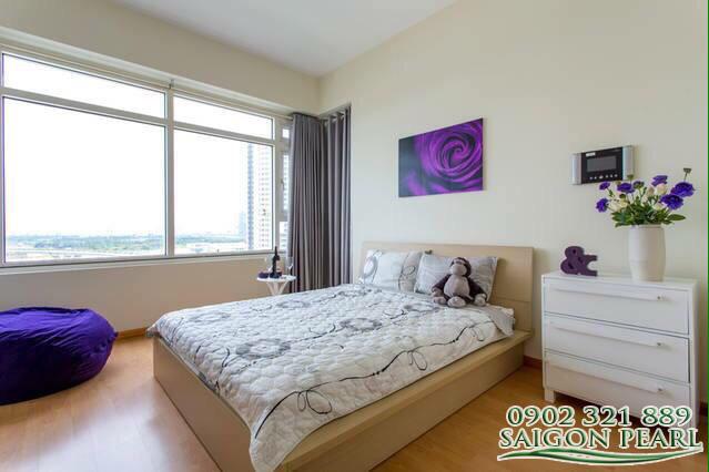 Căn hộ Saigon Pearl cho thuê 2 phòng ngủ, tòa nhà Shaphire view Quận 1