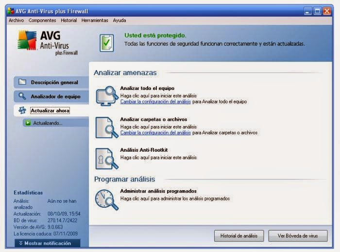 Tela do Antivirus AVG para limpeza do Windows