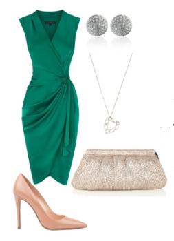 Bodas cucas 5 looks para invitadas verde esmeralda - Colores que combinan con el verde botella ...