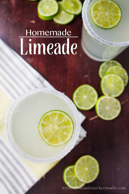 A super easy and simple homemade limeade recipe!  |  My Name Is Snickerdoodle