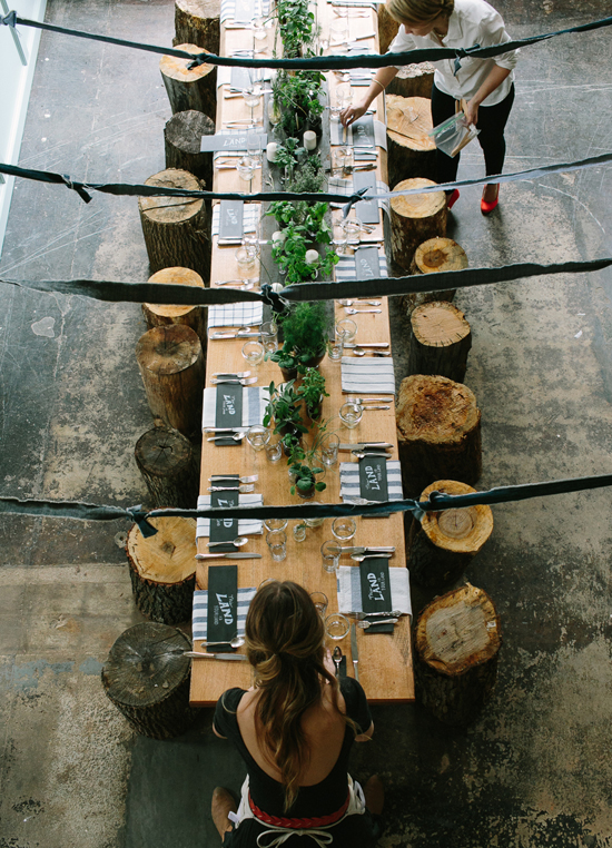 Rustic table setting by The Fresh Exchange