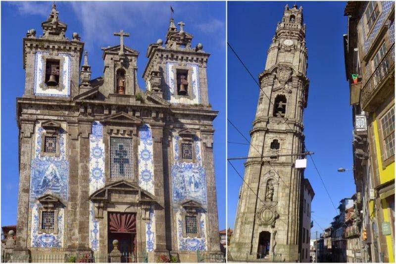 Iglesia de San Ildefonso y Torre dos Clérigos en Oporto, Portugal
