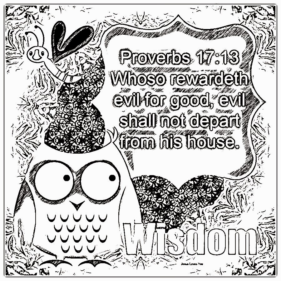 kids coloring pages on wisdom - photo#10